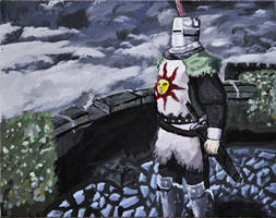 Solaire of Astora (traditional painting) by CorporalDogmeat