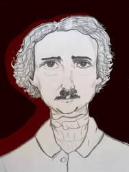 Edgar Allan Poe by Vio-Vione