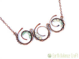 Ocean Waves Copper Necklace by EarthBalanceCraft