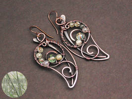 Dewy Leaf Earrings by EarthBalanceCraft
