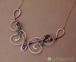Moss of the Woods Necklace by EarthBalanceCraft