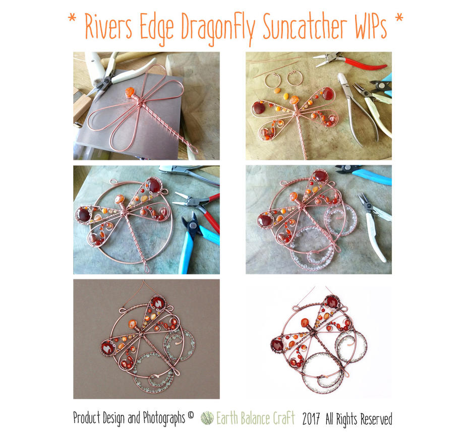 Rivers Edge Dragonfly Suncatcher WIPS by EarthBalanceCraft