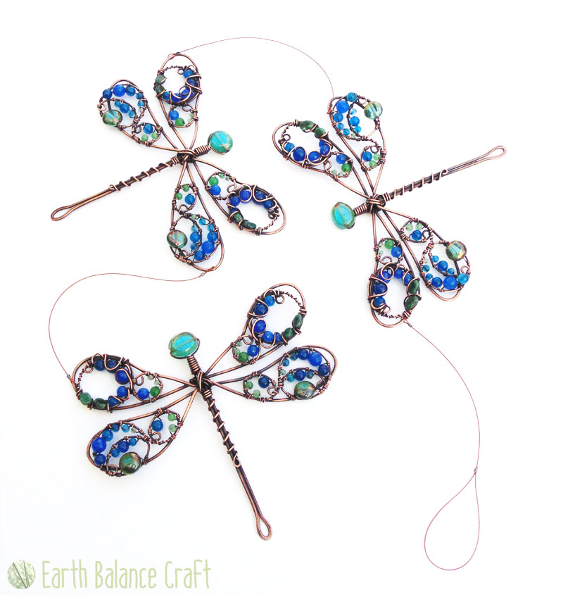 Triple Dragonflies Suncatcher by EarthBalanceCraft