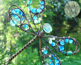Beautiful Demoiselle Dragonfly Suncatcher by EarthBalanceCraft