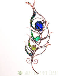 Peacock Feather Suncatcher by EarthBalanceCraft