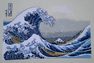 The Great Wave Off Kanagawa by Thriin