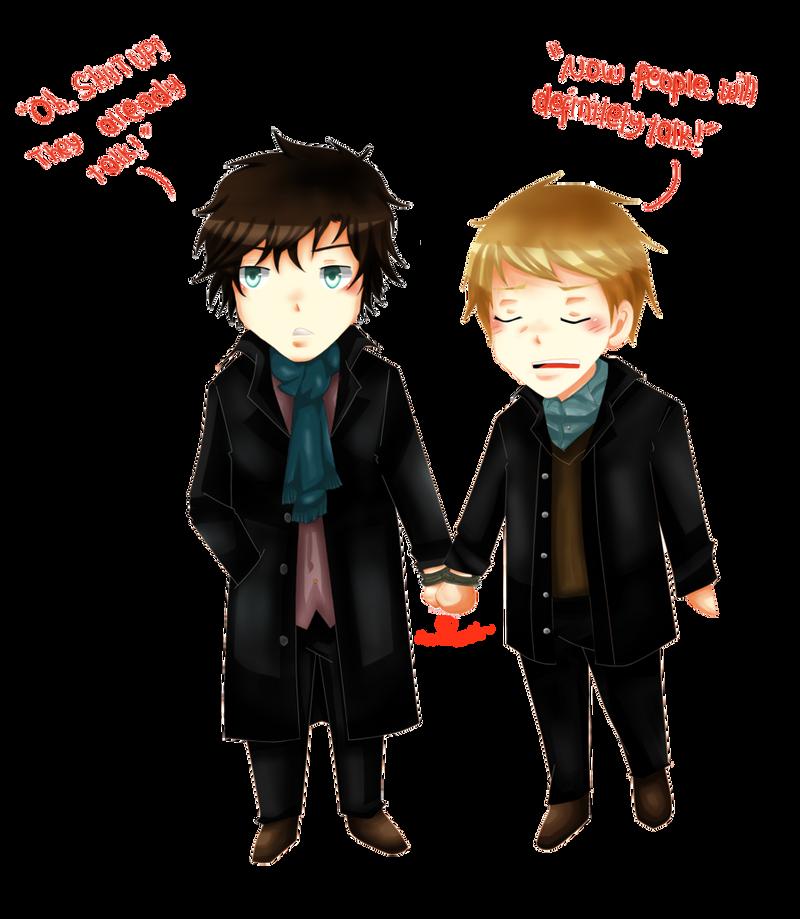 Sherlock and John by lunallachi