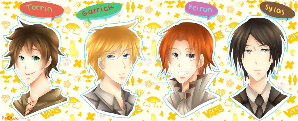 Comm: Torrin, Garrick, Keiran and Sylas by lunallachi