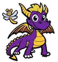 Spyro and Sparx by Anioco