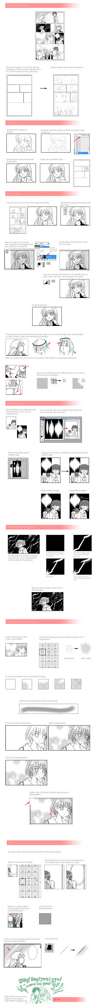 Manga page Tutorial PREVIEW by airibbon