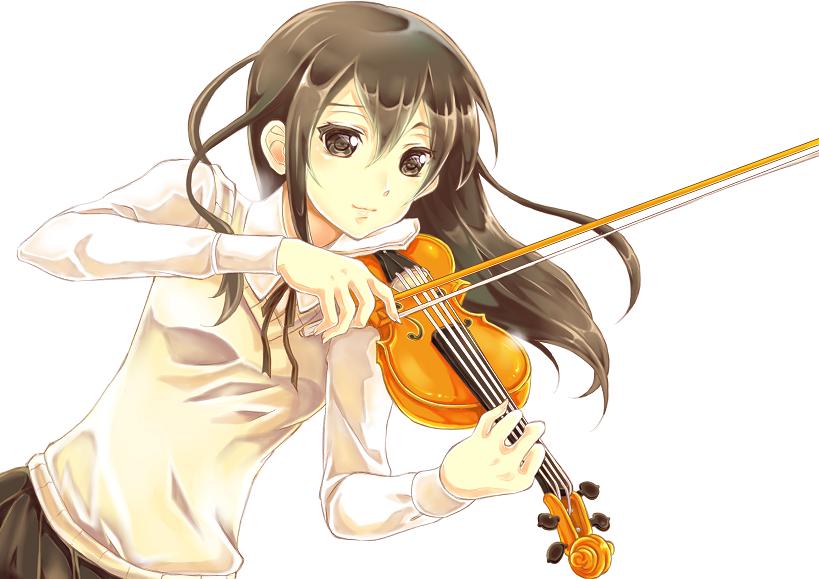 Sad Anime Girl With Violin | www.imgkid.com - The Image ...