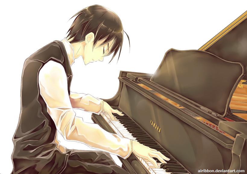 Ani Piano by airibbon ... Gothic Violin Wallpaper