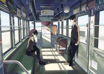 Comm: Taki in Train by airibbon