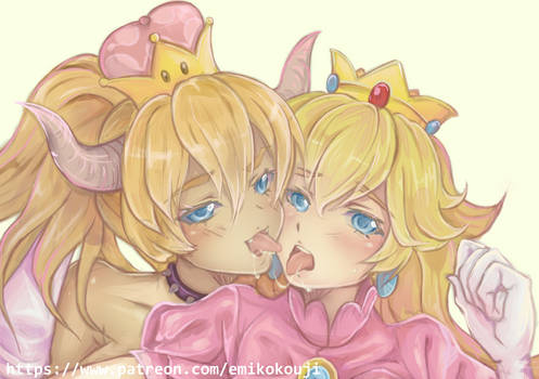 Bowsette and Princess Peach