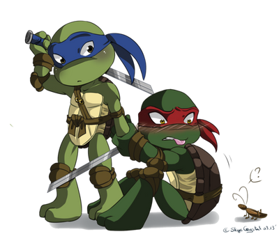 Turtle ninja(tmnt) by raimbowandraph