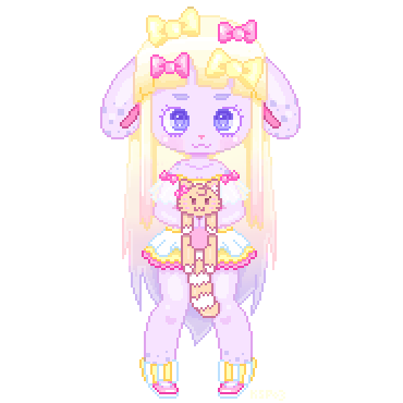 Pixel Page Doll Gift for NekoCake by KittysoftPaws-o3
