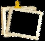 Stacked Vintage Photo Frames png