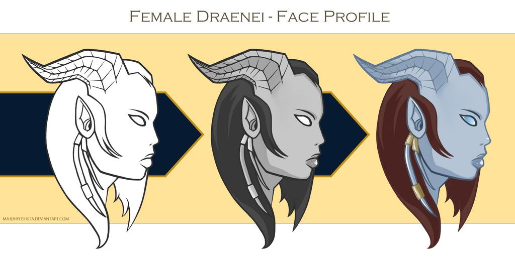 Female Draenei by MajuhYoshida