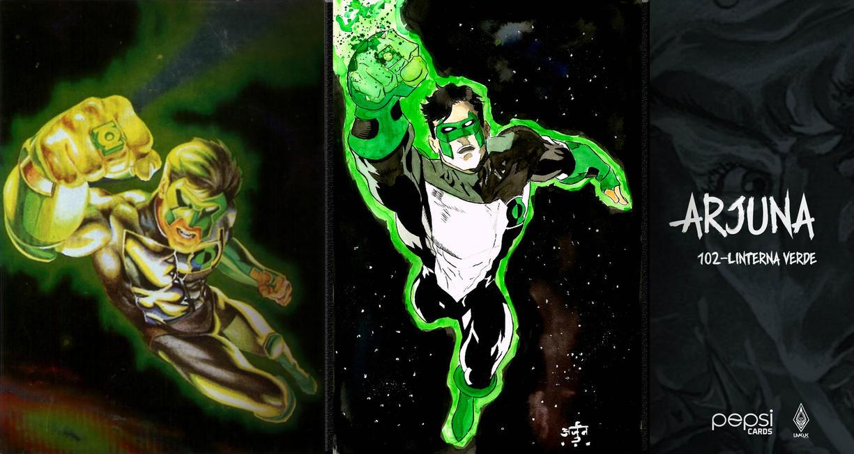 Pepsicard 102 Green Lantern by ErickArjuna