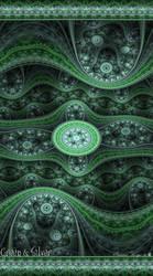 Green and Silver by WyrdWolf