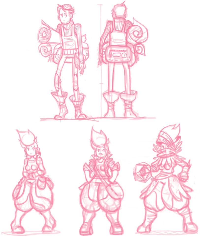 OC sketches by Evergreen1661