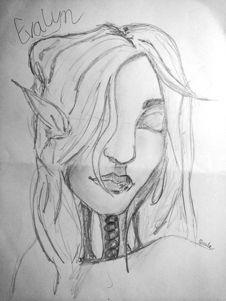 (Eldarya.pl) Draw Guardian above you @Evalyn by bita-smietana