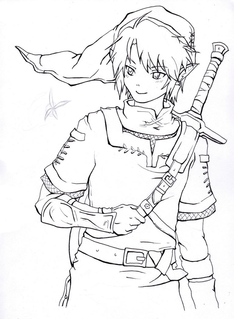 Ocarina Link Coloring Pages Coloring Pages