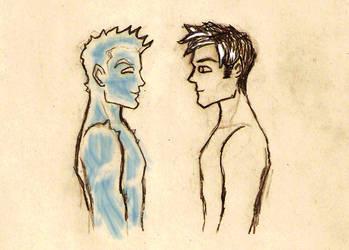 Northstar Iceman sketch by Deerane