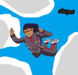 Request : Elisa Maza in parachute by SurgeAventura