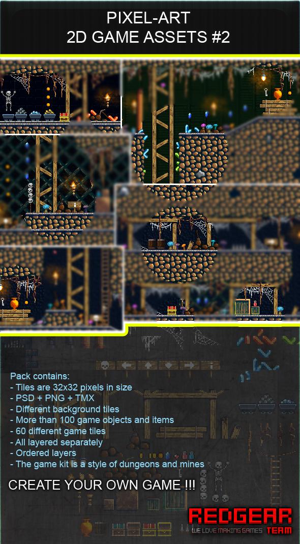 Pixel-art game assets #2 by TEAM-REDGEAR on DeviantArt