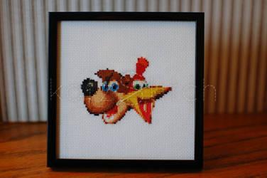 Banjo Kazooie cross stitch
