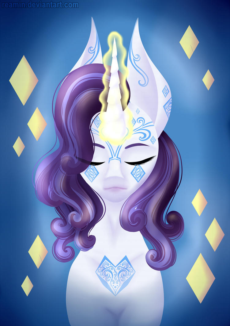 SPEEDPAINT - Rarity Bust with Tattoo MLP by Reamin