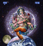 Ganesha Dancing on the World