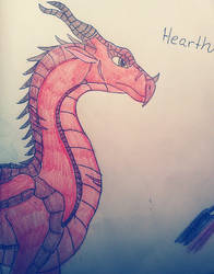 Sort of Vent Art: Hearth the Skywing by WitchyArtistGal