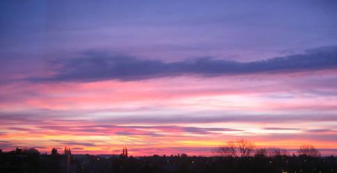 Sunset on Waremme