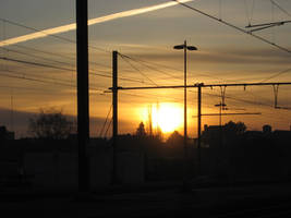 Sun Rize on the Train Station by Zazou8