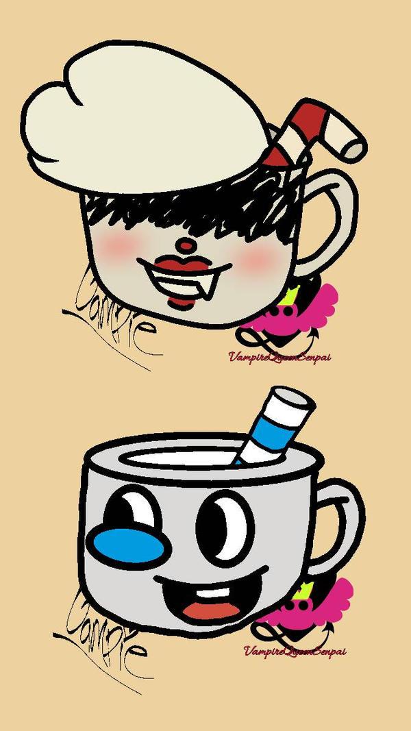 Fem!Cup and Mug by VampireQueenSenpai