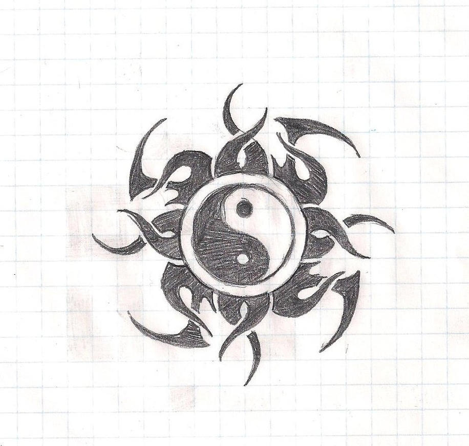 yin yang tribal tattoo design by lelandx18 on deviantart. Black Bedroom Furniture Sets. Home Design Ideas