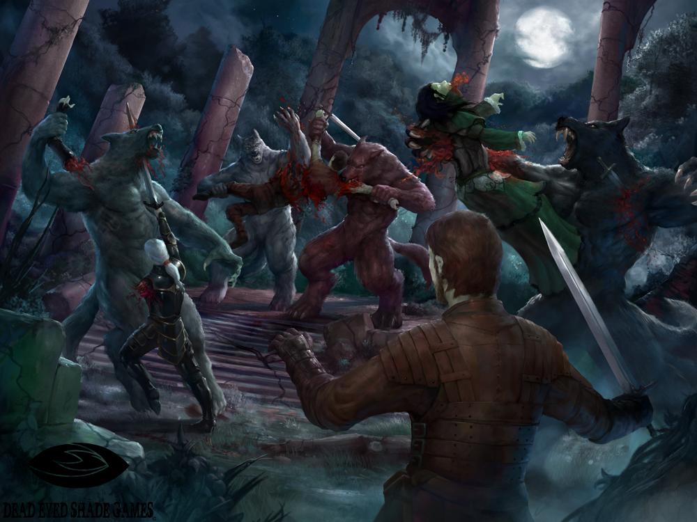 vampires vs werewolves by deadeyedshadegames on deviantart