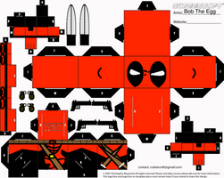 Deadpool Cubee by BobTheEgg