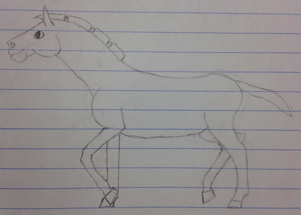 Failed drawing of a foal by Hyena2014 on DeviantArt