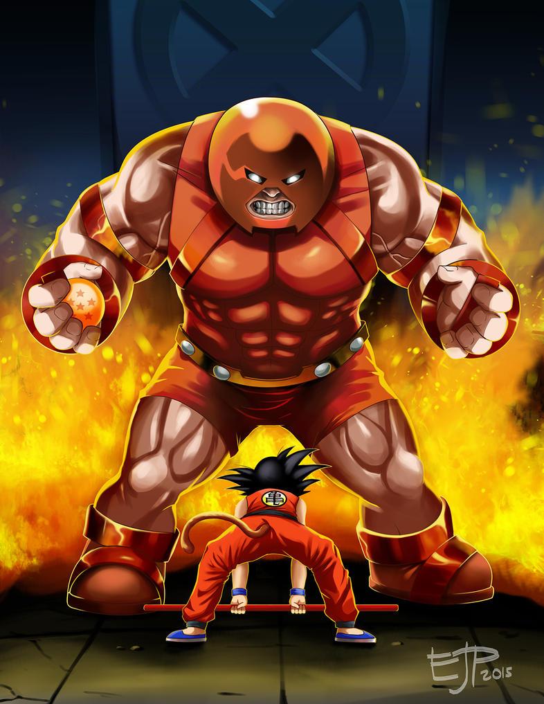 Goku Vs Juggernaut by edwardjener