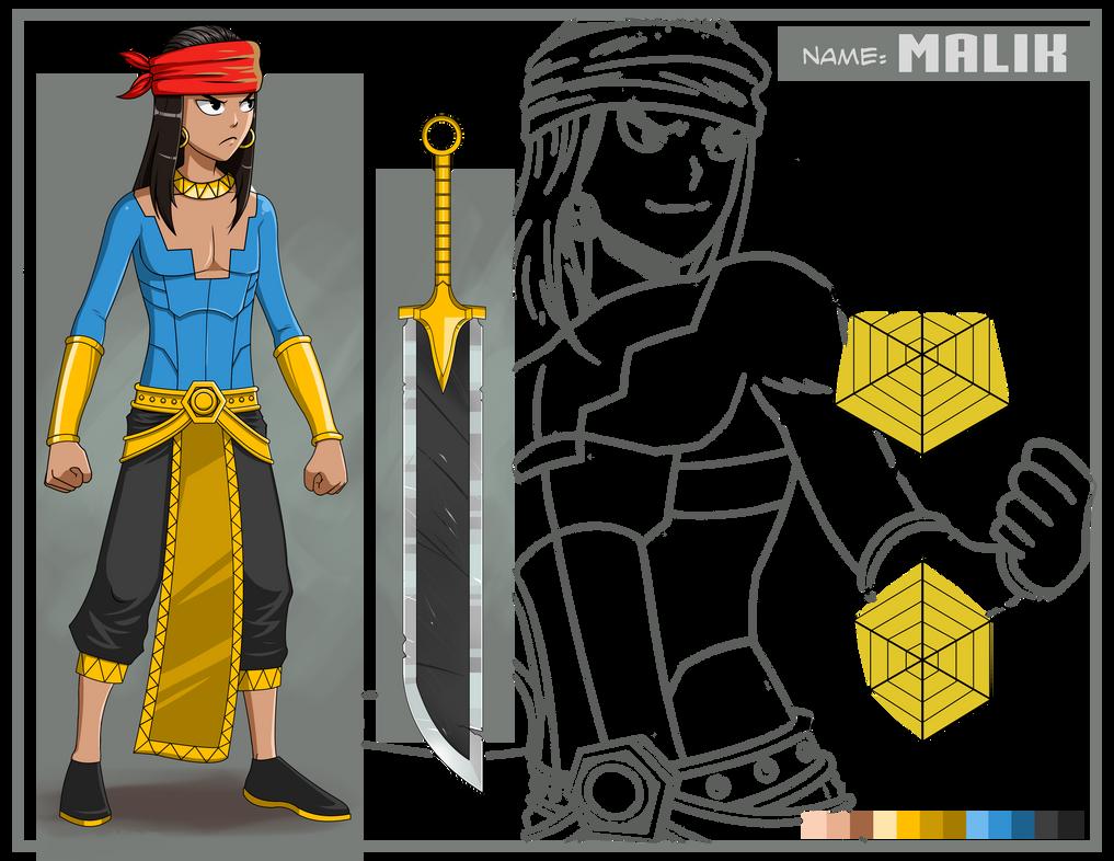 MALIK (Character Design Sheet) for Contest Entry by edwardjener