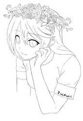 Anime girl Snapchat flowers