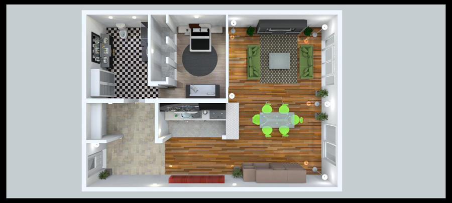 3D Floor Plan by Antonio23d
