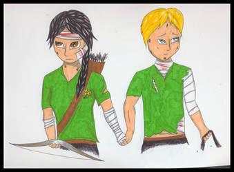 Katniss and Peeta by ScorpionFlower24