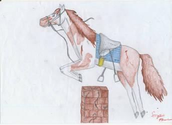 Runaway horse by ScorpionFlower24