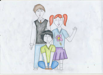 Harry Potter family by ScorpionFlower24