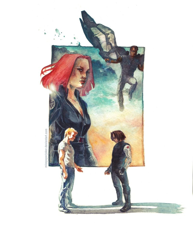 A Washed-Out Dream - CaptainAmerica:Winter Soldier by MissPaperJoker