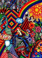 Rainbow Doodle by Ithelda